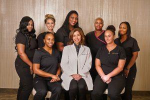 group photo of the Mi Skin staff
